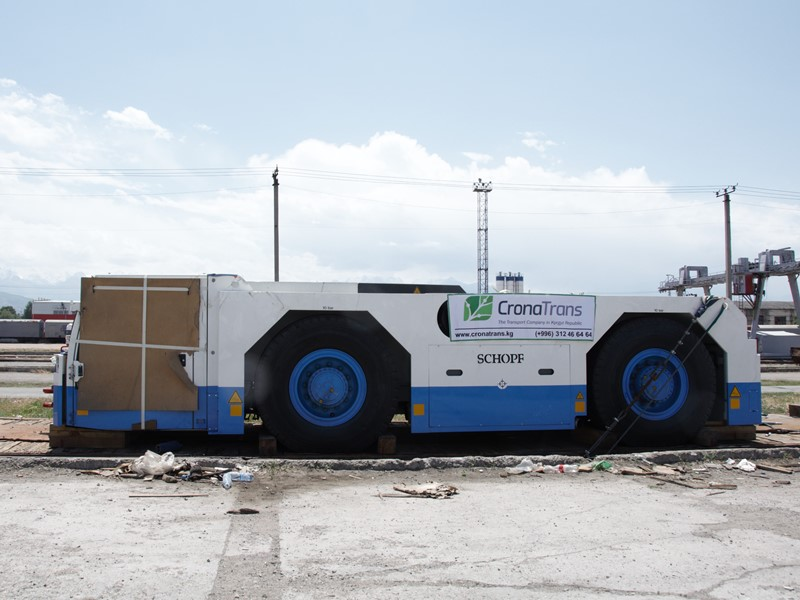 Aircraft tractor for Manas International Airport,45 tons weight ( Alamedin rws, Bishkek city).